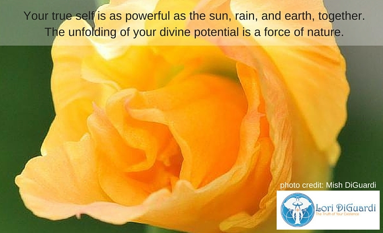 Your true self is as powerful as the sun,